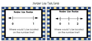 Fifth Grade Number Line Task Cards - 5.NF.A.1, 5.NBT.A.3, 5.NBT.A.4