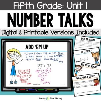 Fifth Grade Number Talks ~ Unit 1