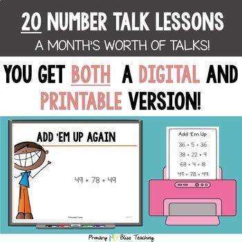 Fifth Grade Number Talks ~ Unit 1 (DIGITAL & Printable)