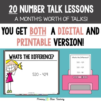 Fifth Grade Number Talks ~ Unit 3 (DIGITAL & Printable)