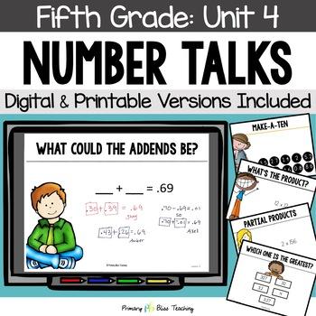 Fifth Grade Number Talks ~Unit 4