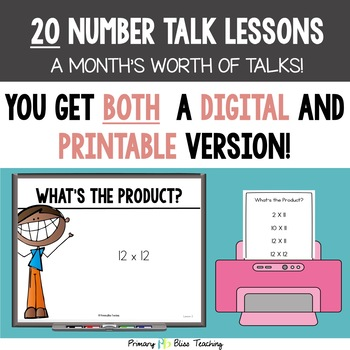 Fifth Grade Number Talks ~ Unit 4 (DIGITAL & Printable)