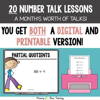 Fifth Grade Number Talks ~ Unit 5 (DIGITAL & Printable)