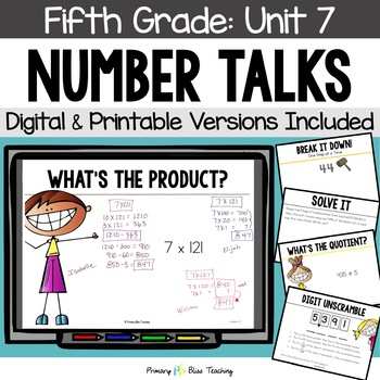 Fifth Grade Number Talks ~ Unit 7