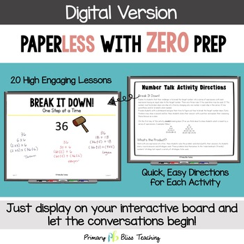 Fifth Grade Number Talks ~ Unit 7 (DIGITAL & Printable)