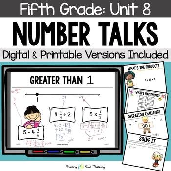 Fifth Grade Number Talks ~ Unit 8