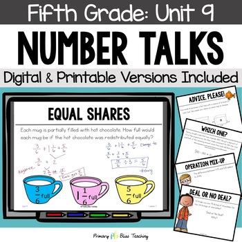 Fifth Grade Number Talks ~ Unit 9