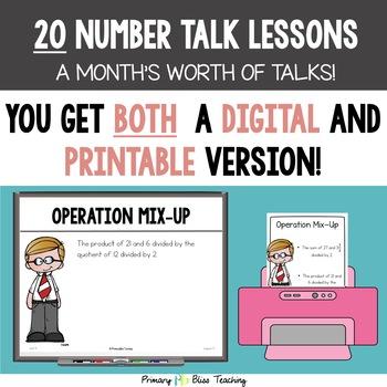 Fifth Grade Number Talks ~ Unit 9 (DIGITAL & Printable)