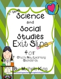 Fifth Grade Ohio Content Standards- Exit Slips for Science