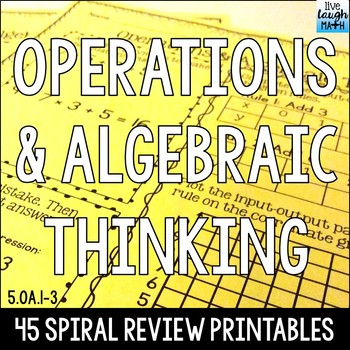 Fifth Grade Operations and Algebraic Thinking Practice