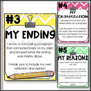 Fifth Grade Opinion Writing Posters