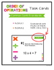 5th Grade Order of Operations Task Cards