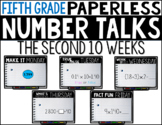 Fifth Grade PAPERLESS NUMBER TALKS- The Second 10 Weeks