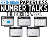 Fifth Grade PAPERLESS NUMBER TALKS- The Third 10 Weeks