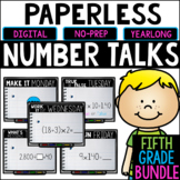 Fifth Grade PAPERLESS Number Talks- A YEARLONG BUNDLE
