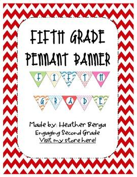 Fifth Grade Pennant Banner