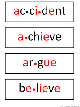 Fifth Grade Personal Spelling Word Wall + 38 Matching Word Wall Cards