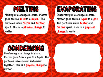 S5P1a. S5P1b. S5P1c. Physical Science Vocabulary Word Wall Cards
