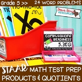 Fifth Grade Products & Quotients of Decimals Math Test Pre