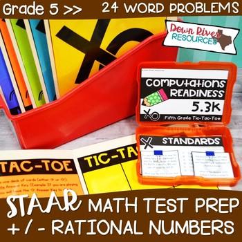 Fifth Grade Rational Numbers Math Test Prep Review Games Bundle | 5th Grade TEKS
