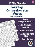 Fifth Grade Reading Comprehension Mazes Complete Set