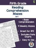 Fifth Grade Reading Comprehension Mazes Set 1