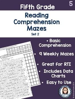 Fifth Grade Reading Comprehension Mazes Set 2