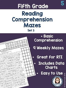 Fifth Grade Reading Comprehension Mazes Set 3