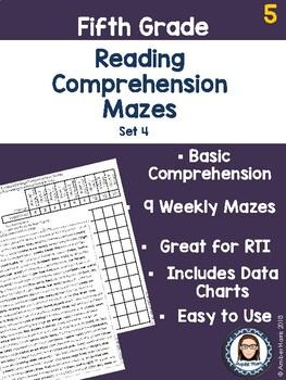 Fifth Grade Reading Comprehension Mazes Set 4