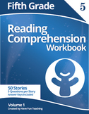 Fifth Grade Reading Comprehension Workbook - Volume 1 (50