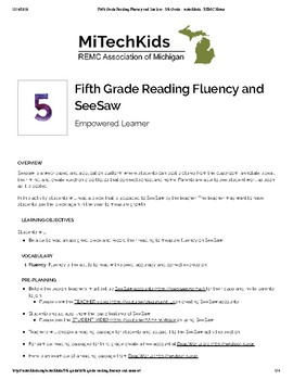 Fifth Grade Reading Fluency and SeeSaw