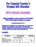 Fifth Grade Reading SOL Checklist
