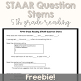 Fifth Grade Reading STAAR Question Stems