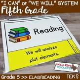 Fifth Grade Reading TEKS I Can Statements {ELAR Standards}