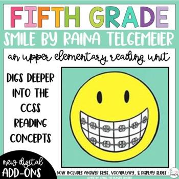 Fifth Grade Reading Unit - Smile (Graphic Novel)