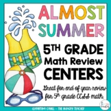 Fifth Grade Review Math Centers