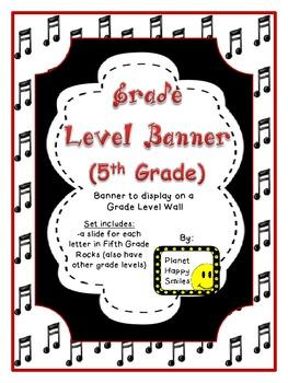 Banner ~ Fifth Grade Rocks