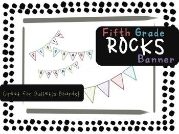 Fifth Grade Rocks Banner