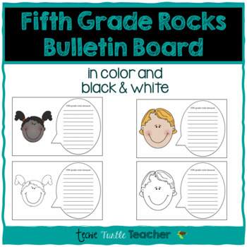 Fifth Grade Rocks Because Writing - Perfect for Bulletin Boards!