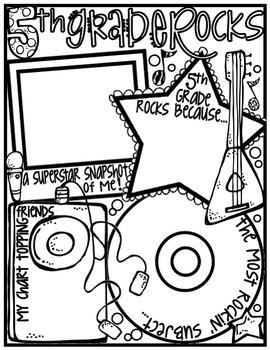 Fifth Grade Rocks! Poster: A Rockin' Back to School Ice Breaker Activity