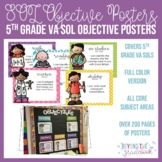 Fifth Grade SOL Objective Posters