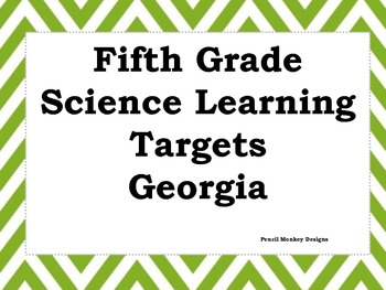 Fifth Grade Science Learning Targets (Georgia)