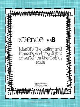 Science TEKS, Vocabulary Lists, and Vocabulary Cards for 5th Grade STAAR