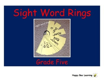 Fifth Grade Sight Words