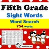 36 Fifth Grade Sight Words Word Search Worksheets, Vocabulary Activities