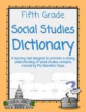Fifth Grade Social Studies Dictionary