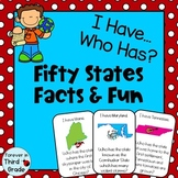 Fifth Grade Social Studies: Fifty States Facts and Fun Game