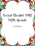 Fifth Grade Social Studies TEKS
