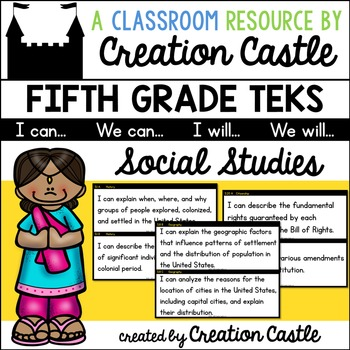 Fifth Grade Social Studies TEKS - Can and Will Standards Statements
