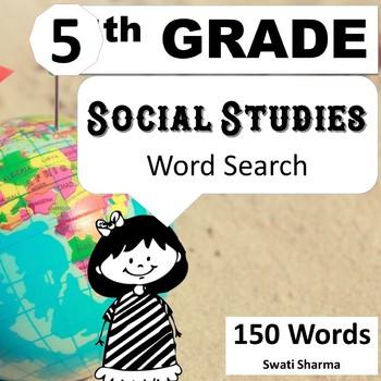 Fifth Grade Social Studies, Word Search Worksheets